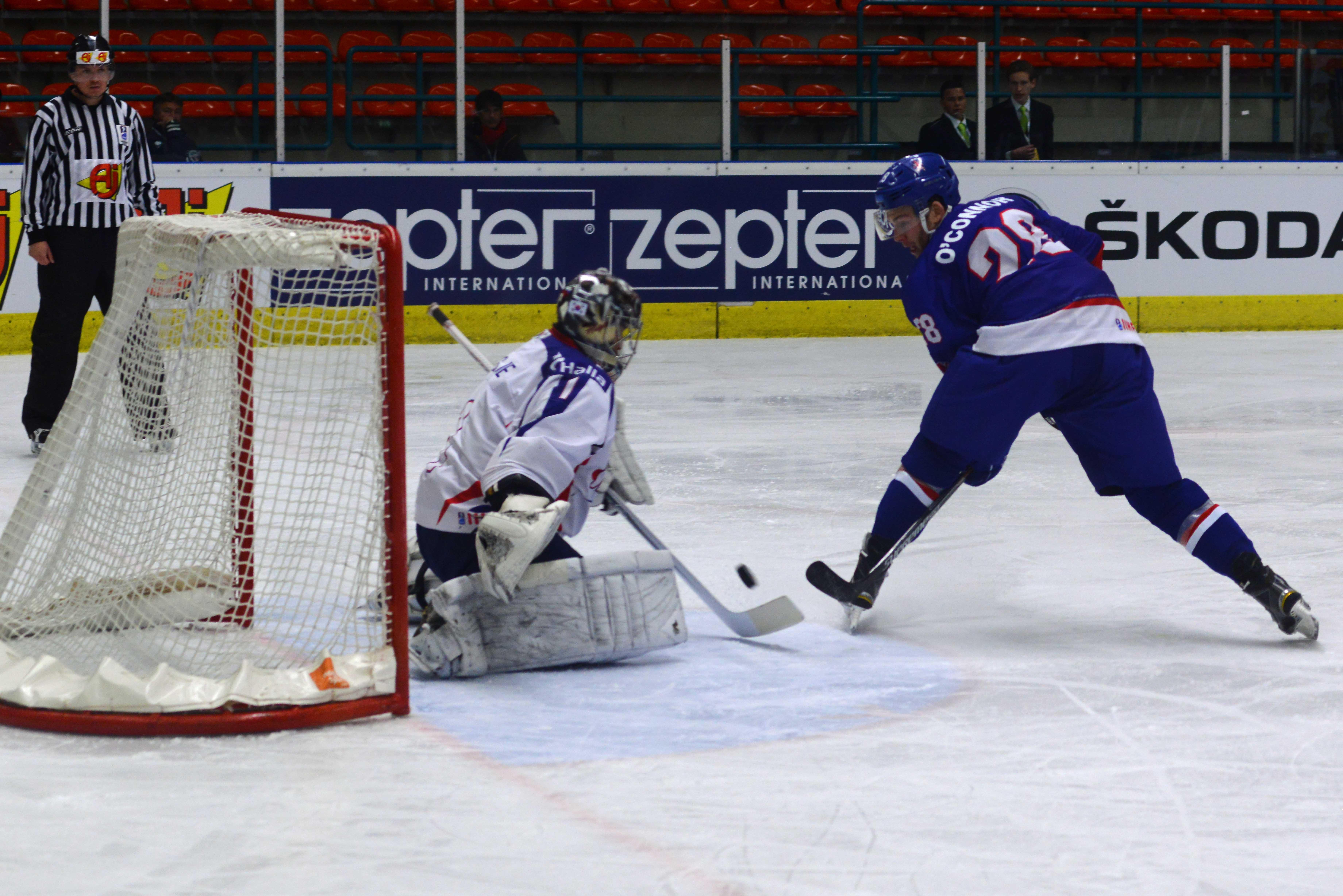 сборная Великобритании, Бен О′Коннор, Сборная Южной Кореи по хоккею